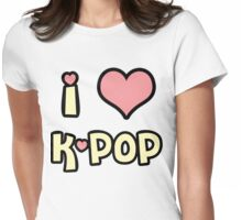 I Love K-Pop! Womens Fitted T-Shirt