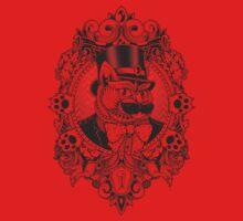Hipster Mustache Cat One Piece - Long Sleeve