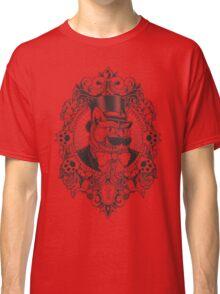 Hipster Mustache Cat Classic T-Shirt