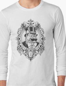 Hipster Mustache Cat Long Sleeve T-Shirt