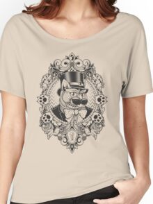 Hipster Mustache Cat Women's Relaxed Fit T-Shirt