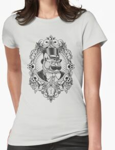 Hipster Mustache Cat Womens Fitted T-Shirt