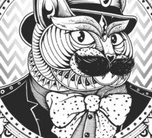 Hipster Mustache Cat Sticker