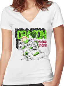 YUNG FRIEZA Women's Fitted V-Neck T-Shirt