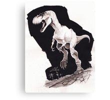 Sprinting Gorgosaurus libratus (Sepia) Canvas Print