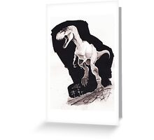 Sprinting Gorgosaurus libratus (Sepia) Greeting Card
