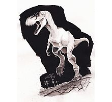 Sprinting Gorgosaurus libratus (Sepia) Photographic Print