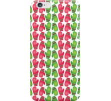 Red & Green Christmas Mittens Pattern iPhone Case/Skin
