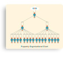 Puppetry organizational chart Canvas Print