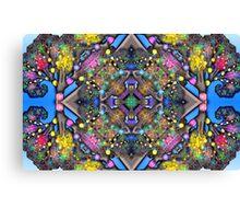 Fractal Tree Kaleidoscope Canvas Print