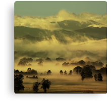 Winter morning, Ovens Valley Canvas Print