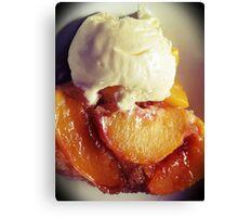 Vanilla Peaches ~ Black Vignette Canvas Print