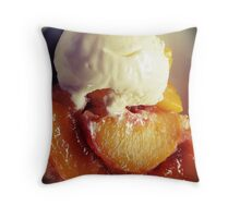 Vanilla Peaches ~ Black Vignette Throw Pillow