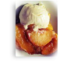 Vanilla Peaches ~ White Vignette Canvas Print
