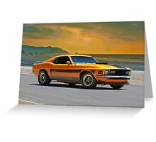 1970 Ford Mustang Mach I Greeting Card