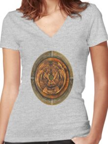 ©DA The Fractal VII Women's Fitted V-Neck T-Shirt