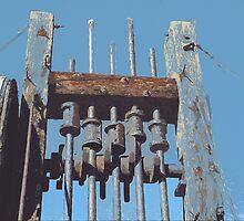 Antique Mining Equipment in the Desert by Adam Berardi