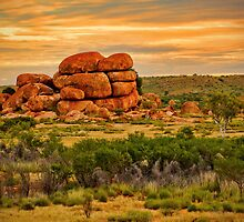 Outback colours by Dennis Wetherley