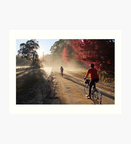 Bike Riders on Dirt Art Print