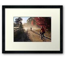 Bike Riders on Dirt Framed Print