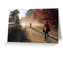Bike Riders on Dirt Greeting Card