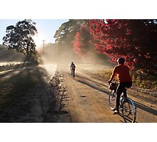 Bike Riders on Dirt Photographic Print