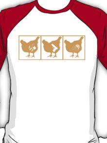 The Chickening - Orange on Black T-Shirt