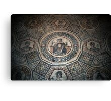 Erotic picture in bedroom, floor mosaic Piazza Armerina 19840326 0078 Canvas Print