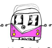 Girls VW Camper Sticker