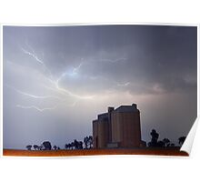 """""""Summer Storm Over Silo"""" Poster"""
