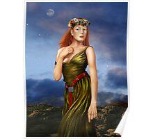 Pre Raphaelite Woman Poster