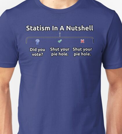 Democracy / Statism In A Nutshell Unisex T-Shirt