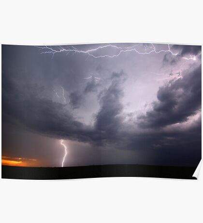 """Summer Storm over Sunset"" Poster"