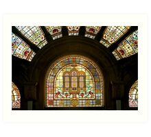 Queen Victoria Building-stain glass Art Print
