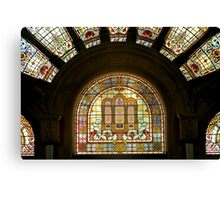 Queen Victoria Building-stain glass Canvas Print