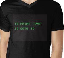 BASIC COMPUTER language I love you Mens V-Neck T-Shirt
