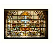 Stained Glass detail-Queen Victoria Building Art Print