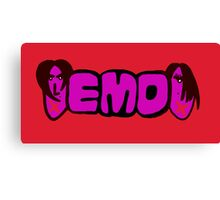 Emo teenager Canvas Print