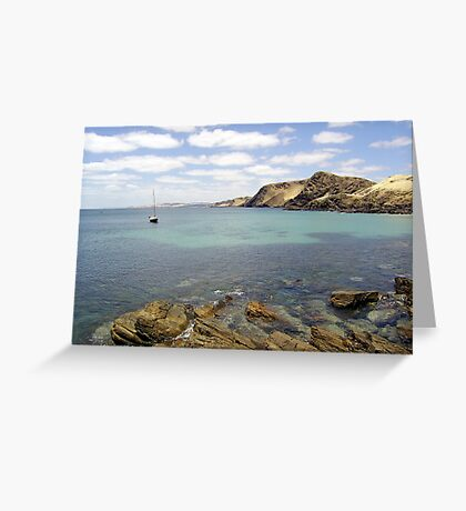 Secure mooring landscape Greeting Card