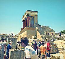 Searching for the Ancient World in Knossos Palace, Greece by Susan Wellington