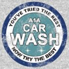 A1A Car Wash Logo Vintage version by karlangas