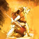 Brazilian Jiu Jitsu Triangle Submission Poster by Willy Karl Beecher