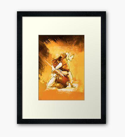 Brazilian Jiu Jitsu Triangle Submission Poster Framed Print