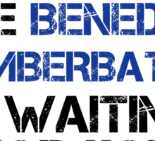 Run Like Benedict Cumberbatch is Waiting Sticker
