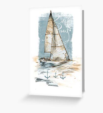 'Sail Away' Greeting Card Greeting Card
