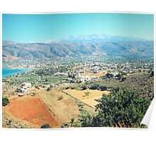 Spectacular beauty of the White Mountains of Crete, Greece Poster