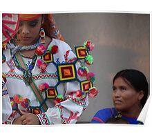 interaction of different cultures - encuentro de culturas distintas Poster