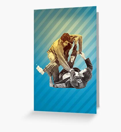 Jiu Jitsu Spider Guard Poster Greeting Card