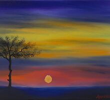 Sunset in oil by ArmstrongArt