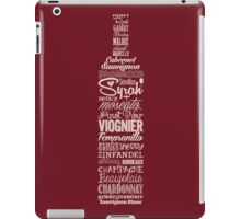 Wineography (Crimson) iPad Case/Skin